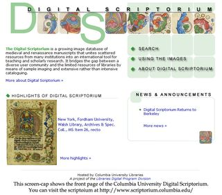 Digital Scriptoriums Screen Cap