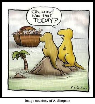 Dinosaurs miss the boat copy